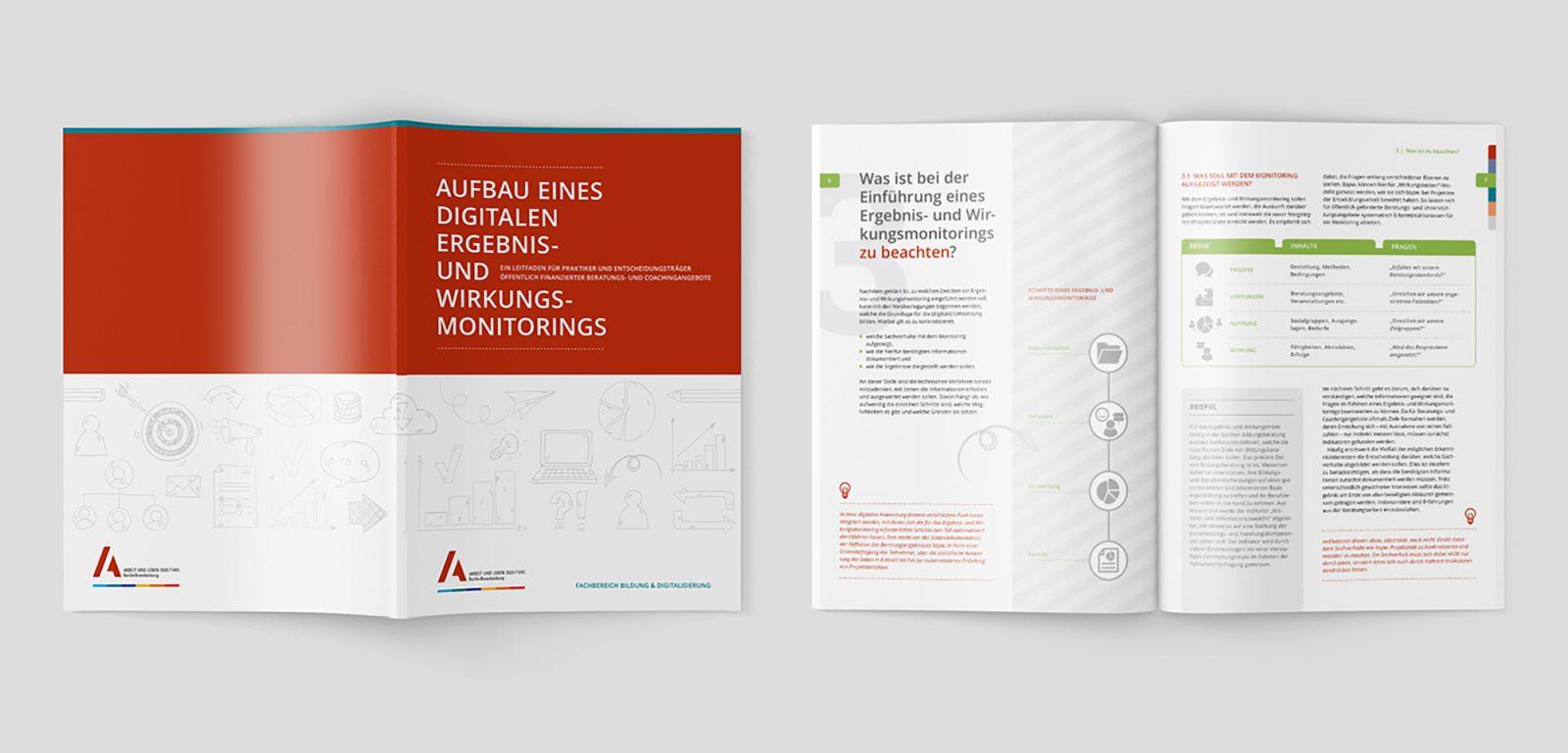 """Broschüre """"Aufbau eines digitalen Ergebnis- und Wirkungsmonitorings"""""""