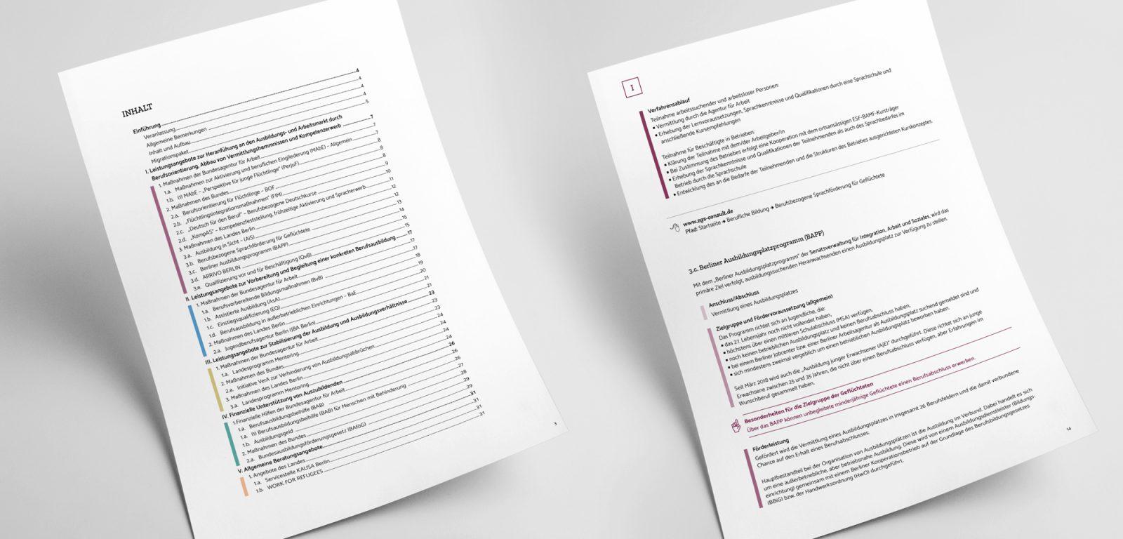 """Synopse """"Leistungsangebote für Geflüchtete auf dem Weg in die Berufsausbildung und Integration in den Arbeitsmarkt"""""""