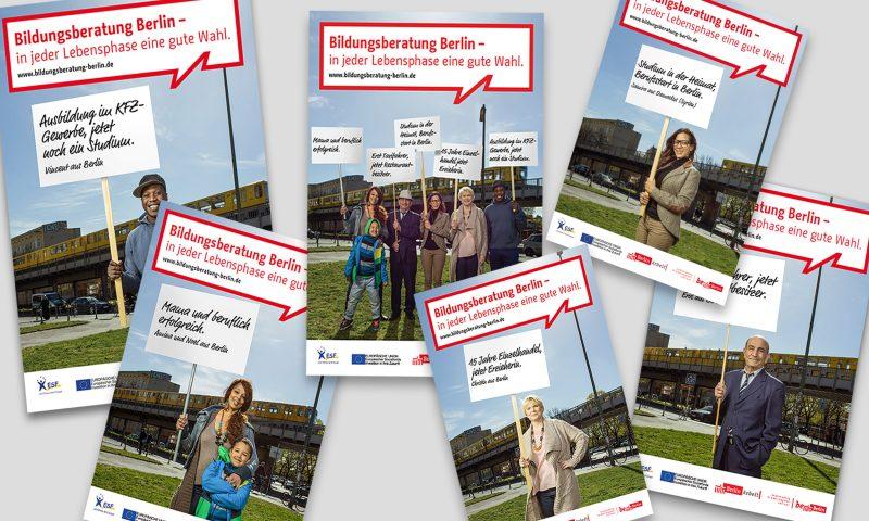 """Plakatserie """"Bildungsberatung Berlin – In jeder Lebensphase eine gute Wahl"""""""